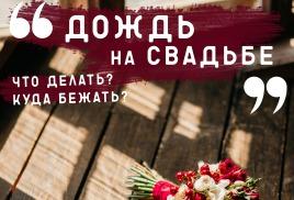 ДОЖДЬ на свадьбе! Что делать?